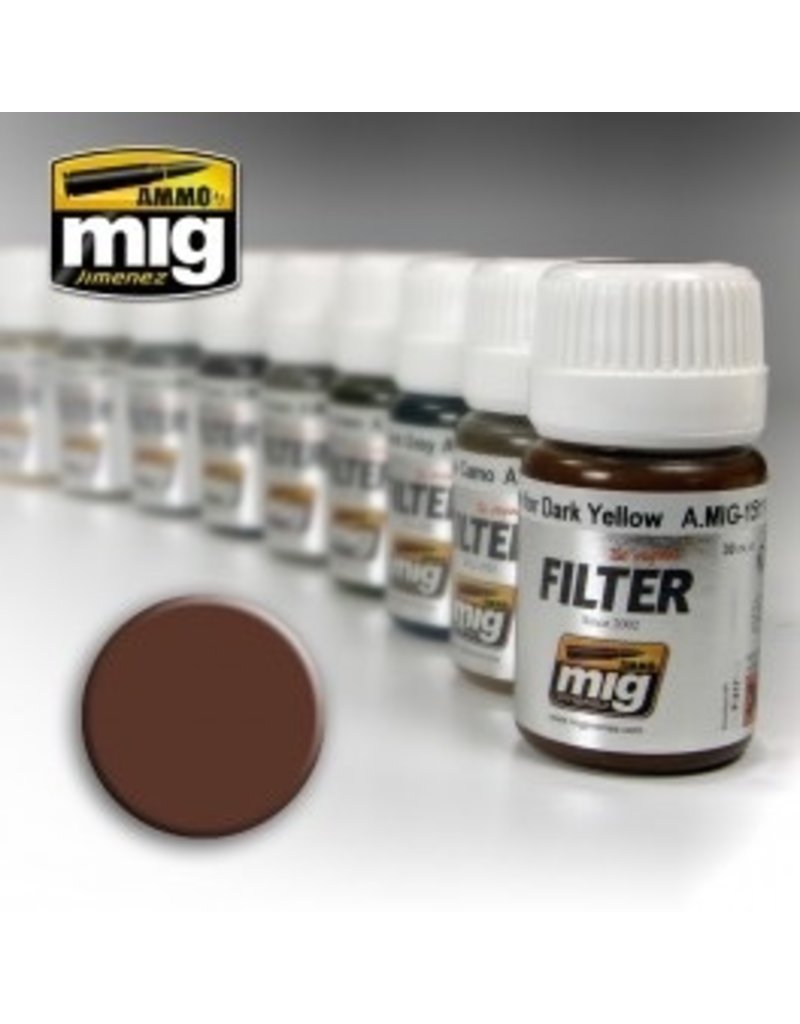 AMMO: of Mig Jimenez DIRECT A.MIG-1500 Enamels 35ml BROWN FOR WHITE