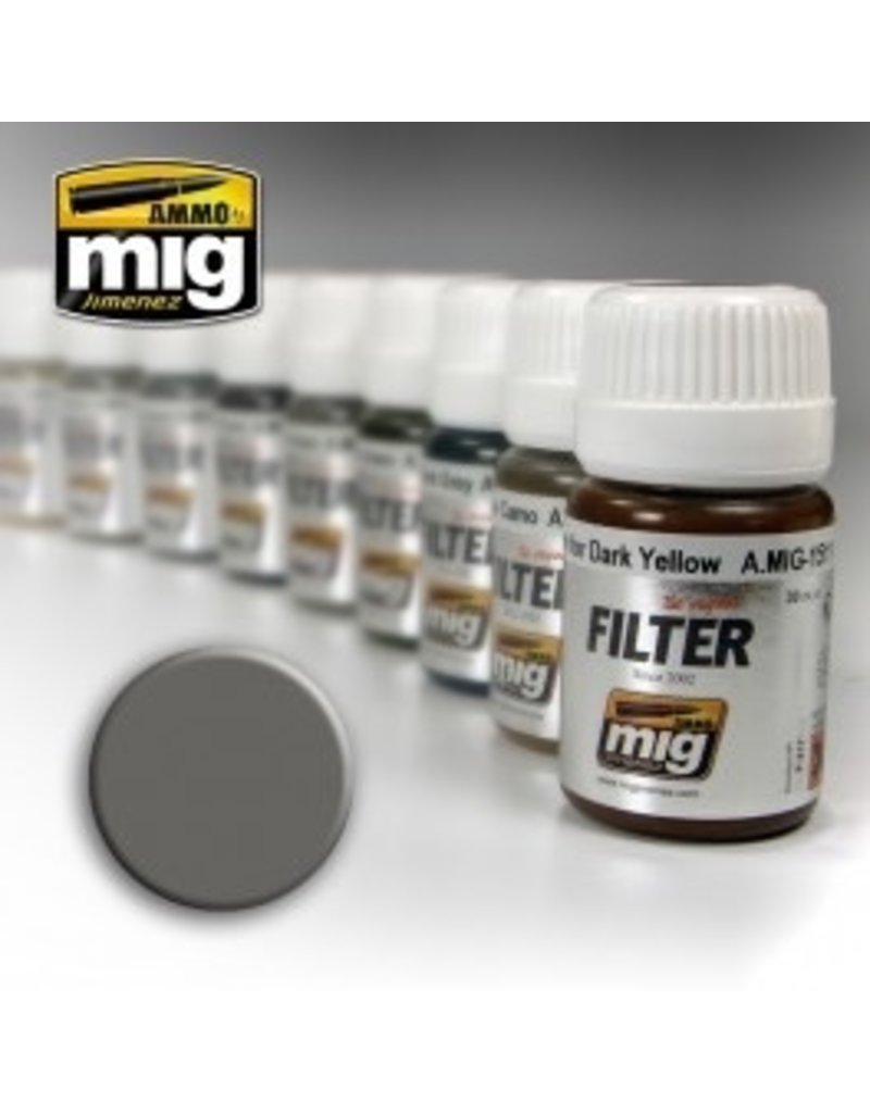 AMMO: of Mig Jimenez DIRECT A.MIG-1501 Enamels 35ml GREY FOR WHITE
