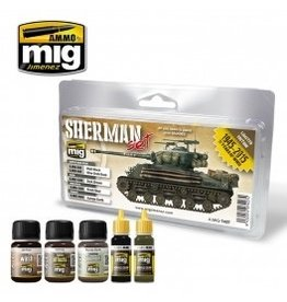 AMMO: of Mig Jimenez DIRECT A.MIG-7427 - FURY Sherman Set