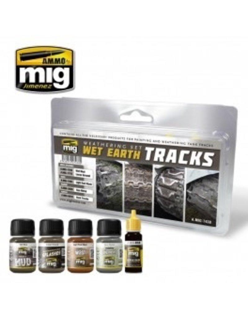 AMMO: of Mig Jimenez DIRECT A.MIG-7438 Wet Earth Tracks Weathering Set