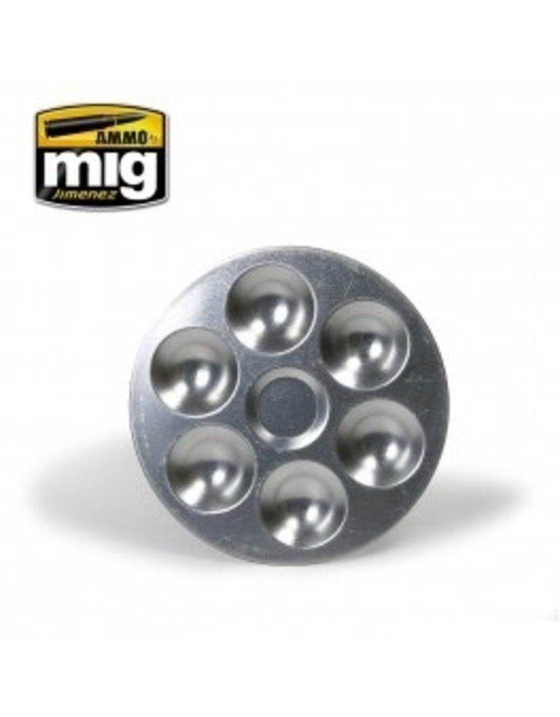 AMMO: of Mig Jimenez DIRECT A.MIG-8008 Aluminum Pallet 6 Wells
