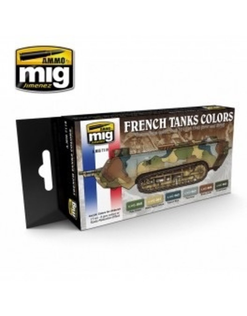 AMMO: of Mig Jimenez DIRECT A.MIG-7110 Acrylic Color Set 6 pcs