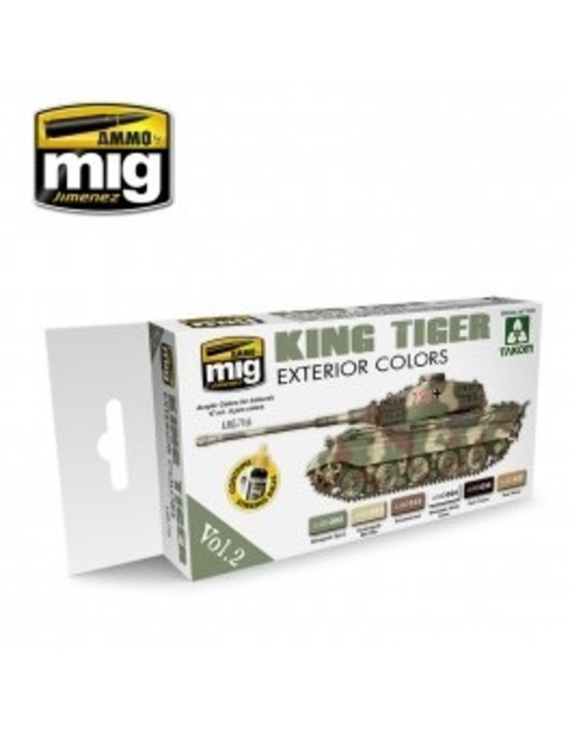 AMMO: of Mig Jimenez DIRECT A.MIG-7166 Acrylic Color Set 6 pcs