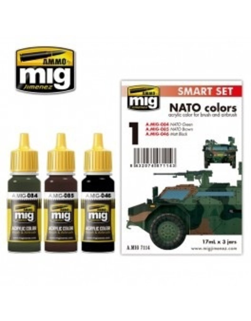 AMMO: of Mig Jimenez DIRECT A.MIG-7114 Acrylic Color Sets 3 pcs