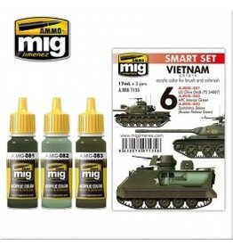 AMMO: of Mig Jimenez DIRECT A.MIG-7135 Acrylic Color Sets 3 pcs