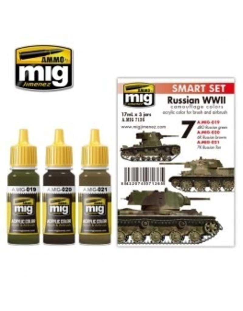 AMMO: of Mig Jimenez DIRECT A.MIG-7136 Acrylic Color Sets 3 pcs