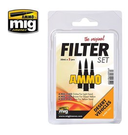AMMO: of Mig Jimenez A.MIG-7451 FILTER SET FOR DESERT VEHICLES