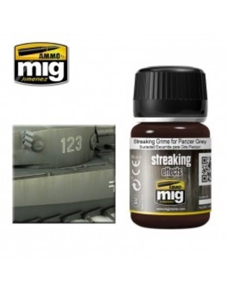 AMMO: of Mig Jimenez A.MIG-1202 STREAKING GRIME FOR PANZER GREY