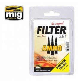 AMMO: of Mig Jimenez A.MIG-7453 FILTER SET FOR GERMAN TANKS