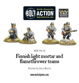 Bolt Action Finnish light mortar and flamethrower teams