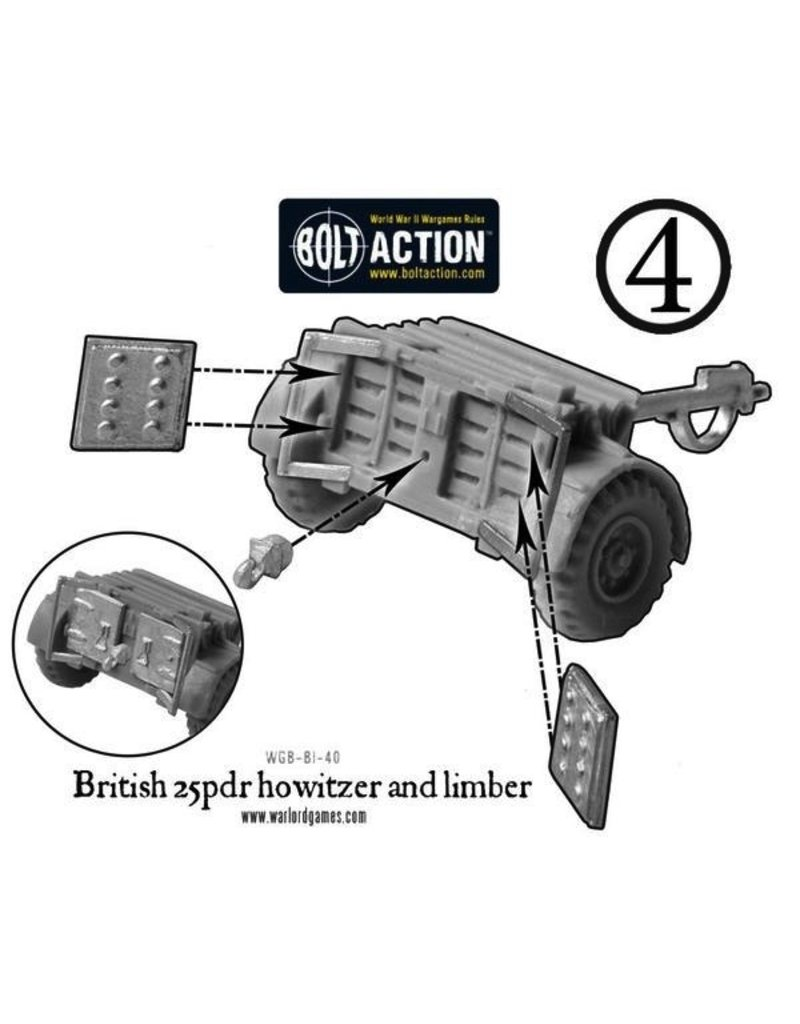 Bolt Action DIRECT BA British Army: 25 pdr Howitzer & Limber