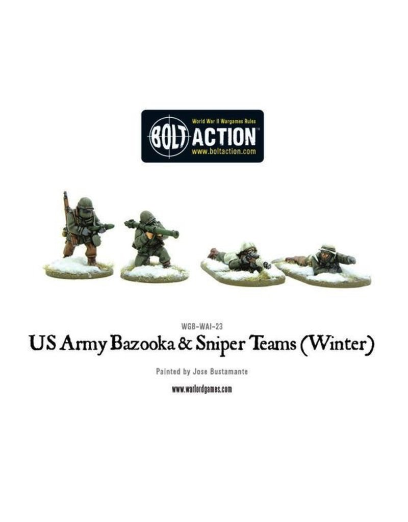Bolt Action BA American Army: Bazooka and Sniper Teams (Winter)