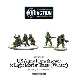 Bolt Action BA American Army: Flamethrower & Light Mortar Teams (Winter)