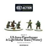 Bolt Action BA American Army: Flamethrower & Light Mortar Teams (Winter)