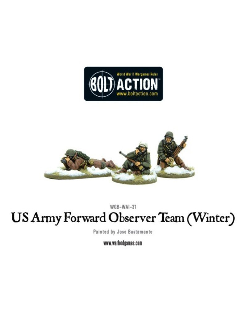 Bolt Action BA American Army: Forward Observer Team (Winter)