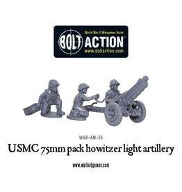 Bolt Action BA American Army: USMC 75mm Pack Howitzer Light Artillery