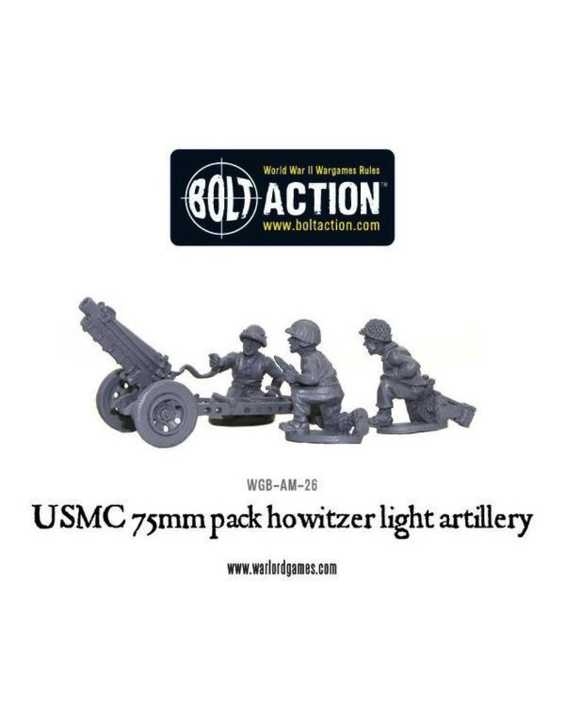 Bolt Action BA American Army: USMC 75mm Pack Howitzer Light Artillery