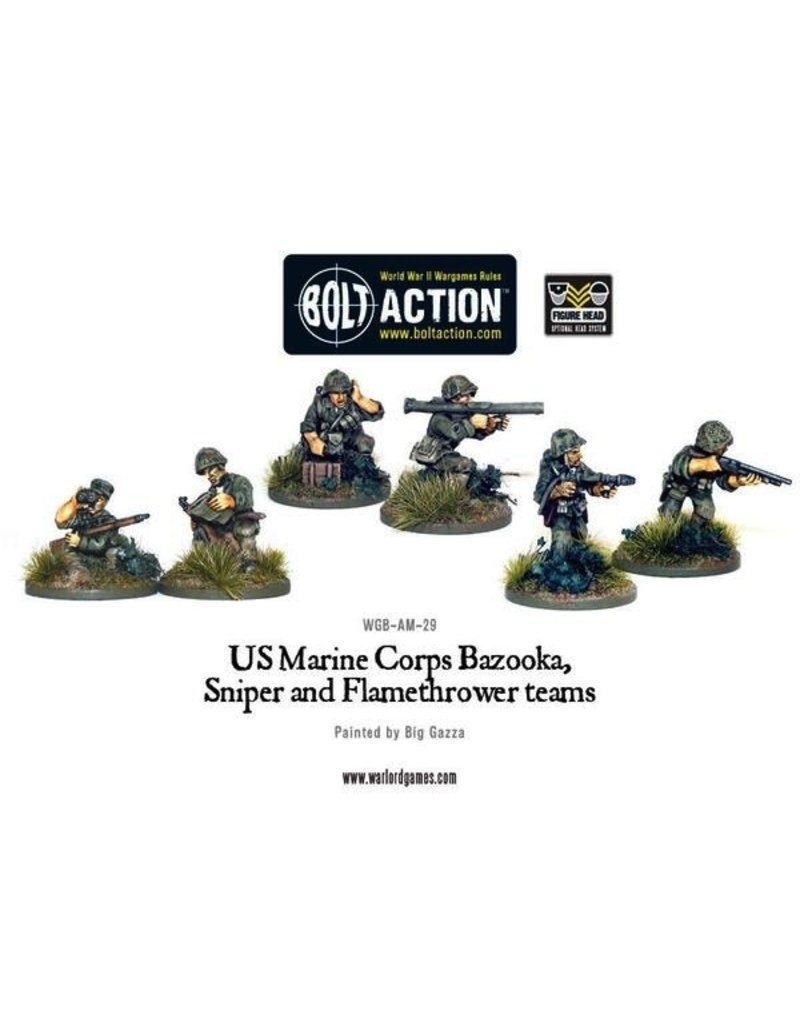 Bolt Action BA American Army: USMC Bazooka, Sniper & Flame Thrower Teams