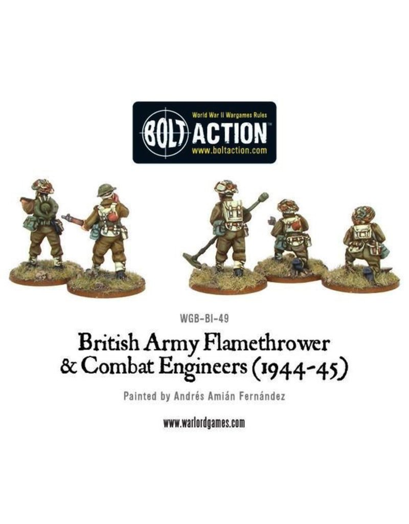 Bolt Action BA British Army: Combat Engineers & Flamethrower Team