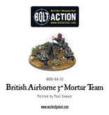 "Bolt Action BA British Army: Airborne 3"" Mortar & Crew"
