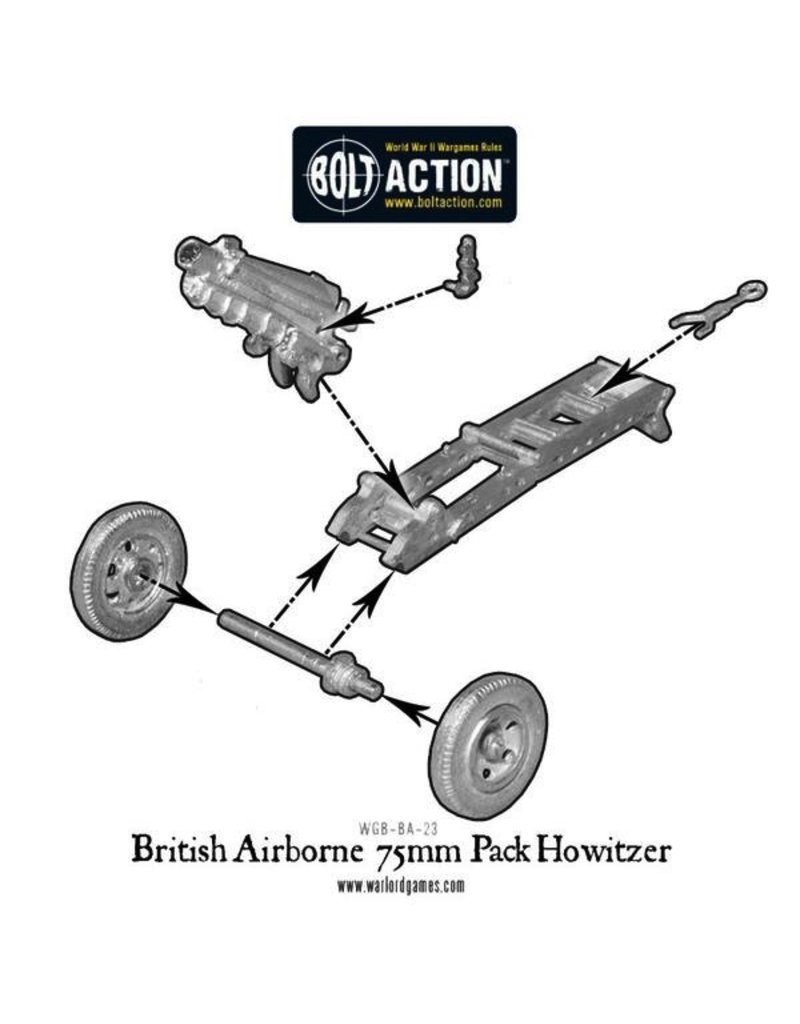 Bolt Action BA British Army: Para 75mm Pak Howitzer & Crew