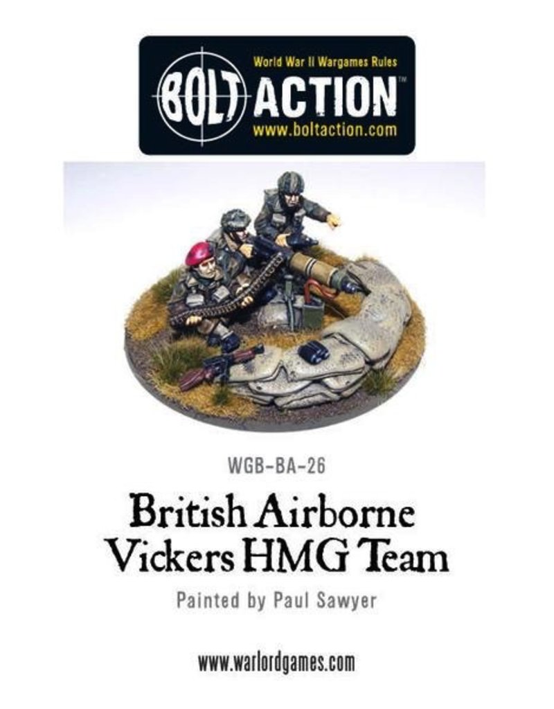 Bolt Action BA British Army: Para Vickers HMG & Crew