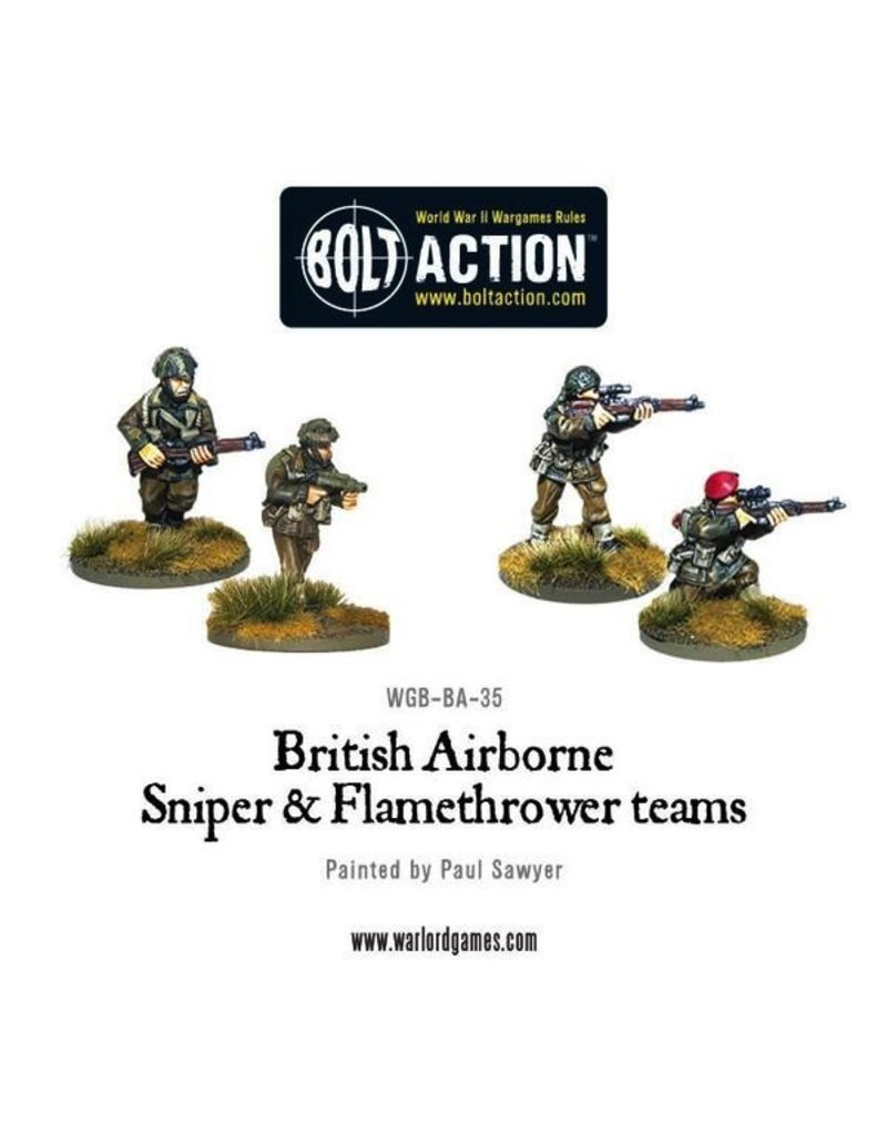 Bolt Action BA British Army: Airborne Flamethrower and Sniper Teams
