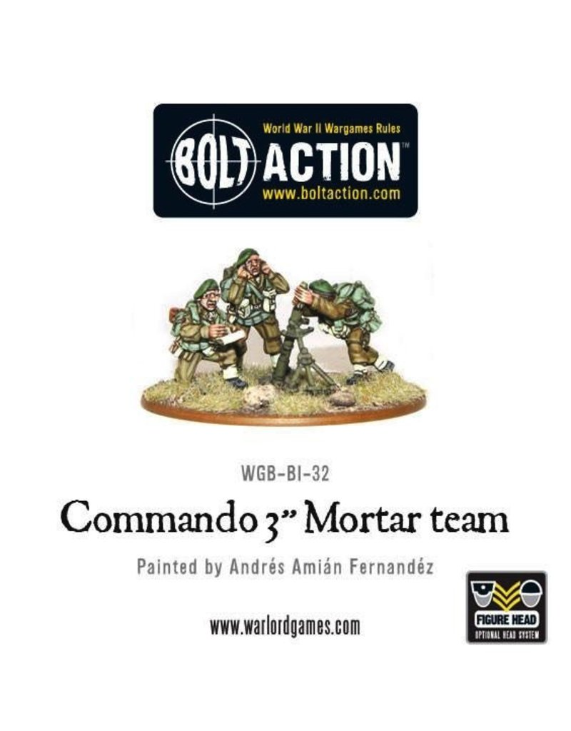 "Bolt Action BA British Army: Commando 3"" Mortar Team"