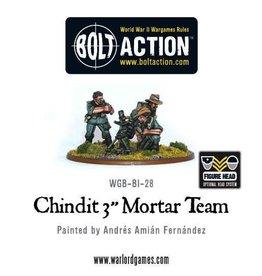 """Bolt Action BA British Army: Chindit 3"""" Mortar Team"""