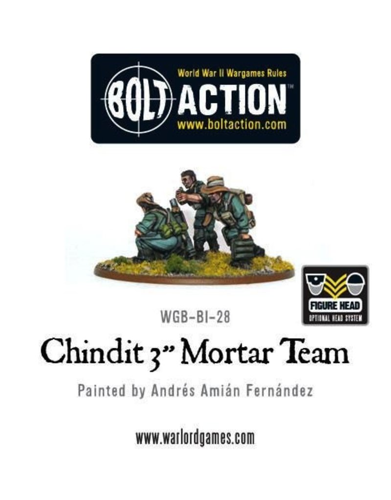 "Bolt Action BA British Army: Chindit 3"" Mortar Team"