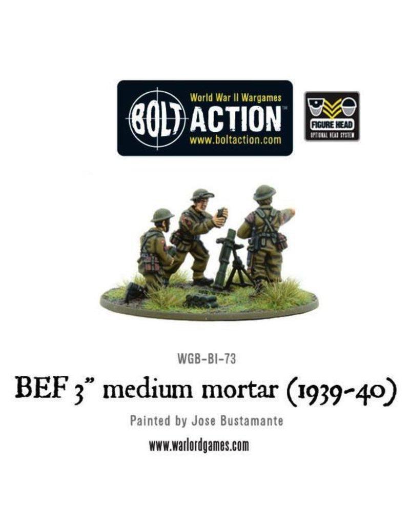 "Bolt Action BA British Army: BEF 3"" Medium Mortar (1939-40)"