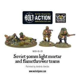 Bolt Action BA Soviet Army: 50mm Light Mortar and Flamethrower Teams