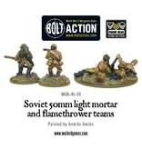 Bolt Action BA Soviet Army: 50mm Light Mortar and Flamethrower Teams