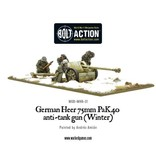 Bolt Action BA German Army: Heer 75mm Pak 40 Anti-Tank Gun (Winter)