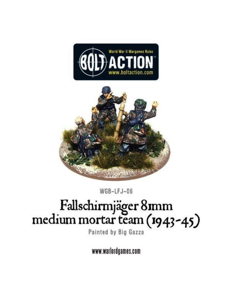 Bolt Action BA German Army: Fallschirmjager 81 Medium Mortar Team