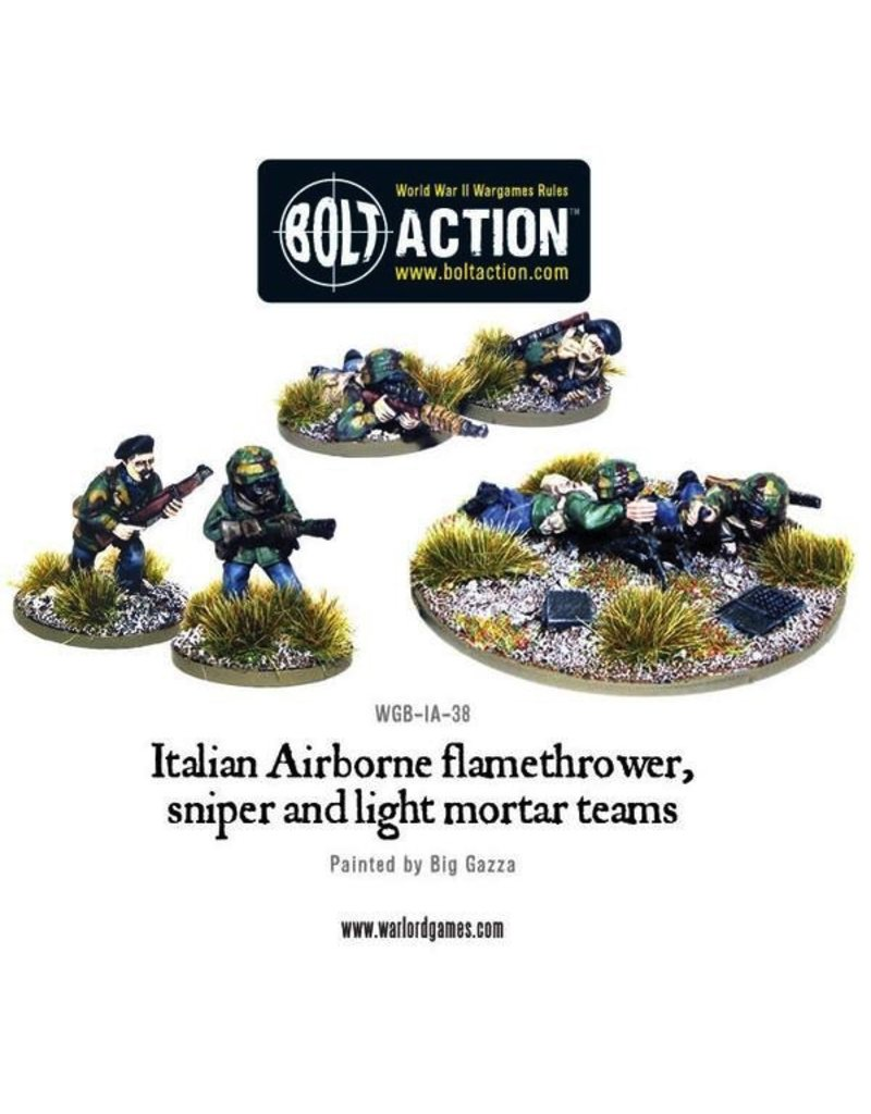 Bolt Action BA Italian Army: Airborne Flamethrower, Sniper, & Light Mortar Teams