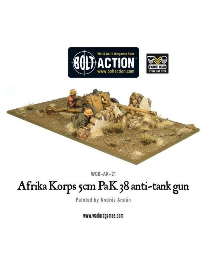 Bolt Action BA German Army: Afrika Korps 5cm PaK 38 anti-tank gun