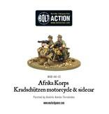 Bolt Action BA German Army: Afrika Korps Kradschutzen Motorcycle and Sidecar