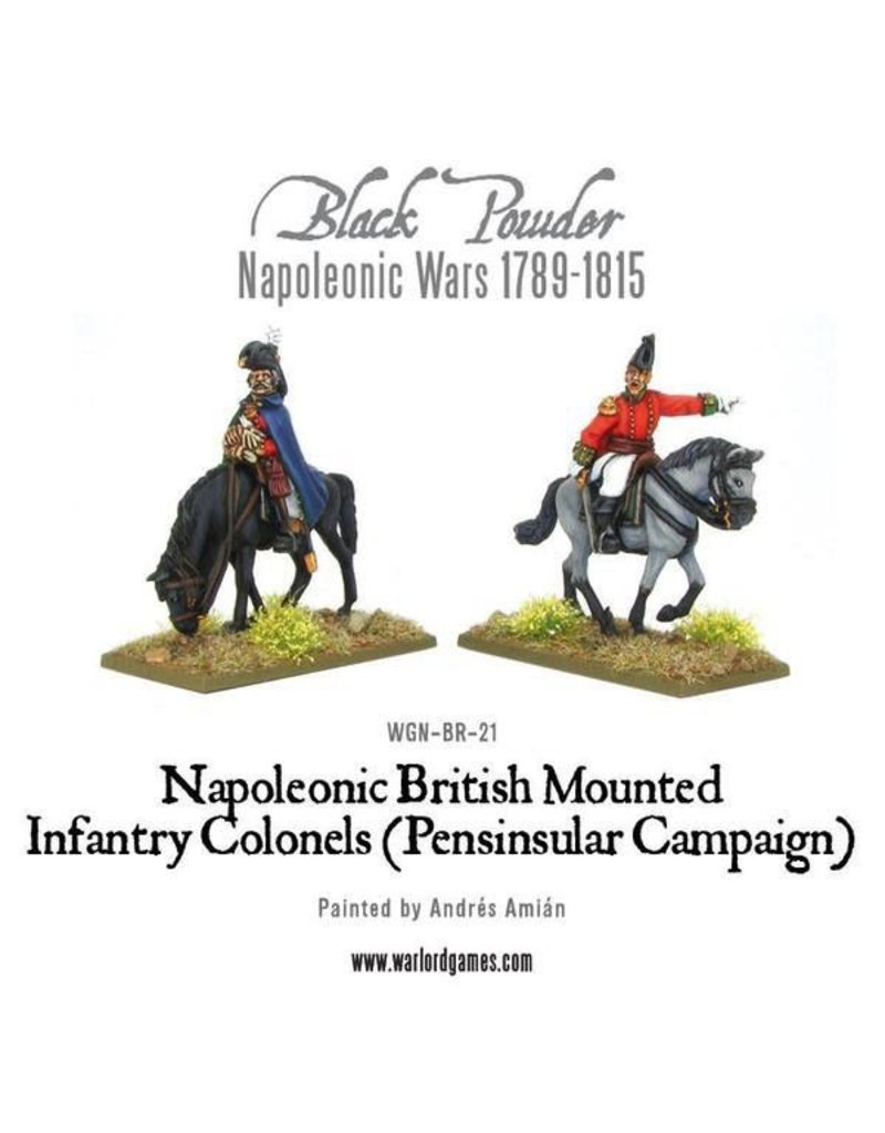Warlord Games Napoleonic British Mounted Infantry Colonels (Peninsular Campaign)