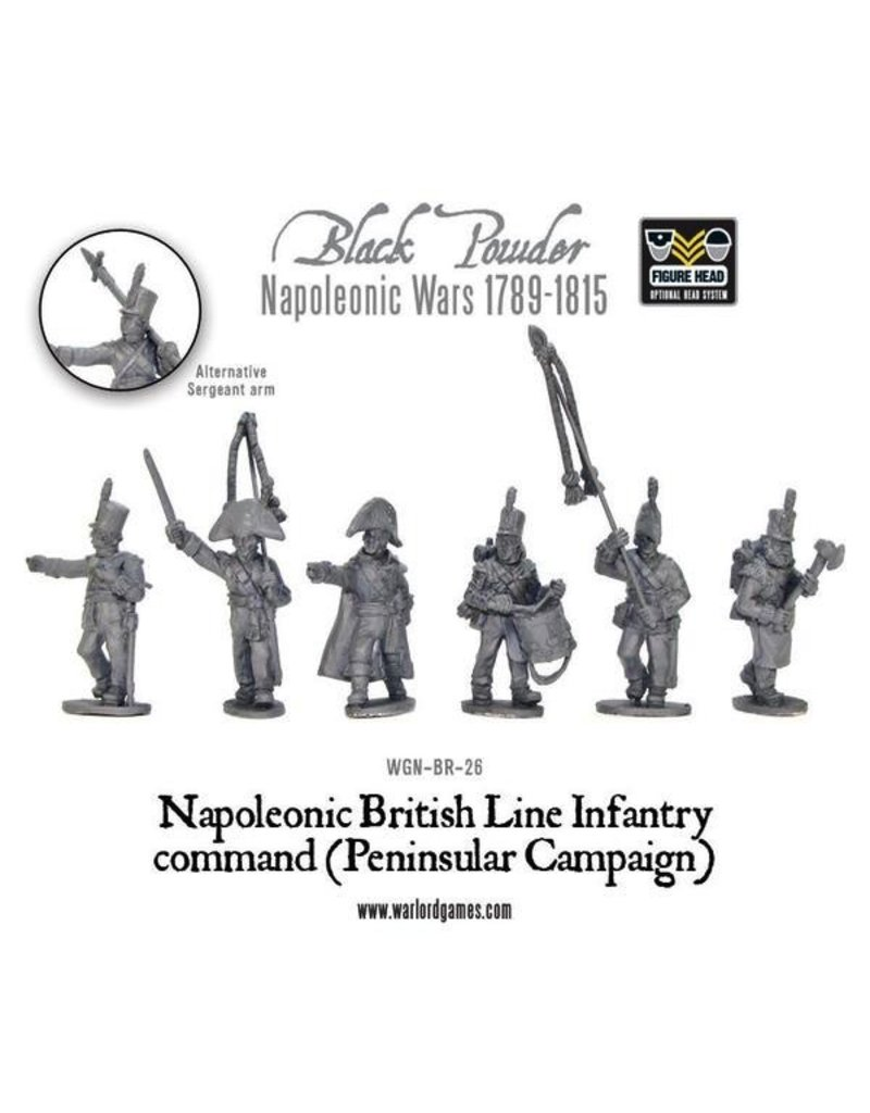 Warlord Games Napoleonic British Line Infantry Command (Peninsular Campaign)