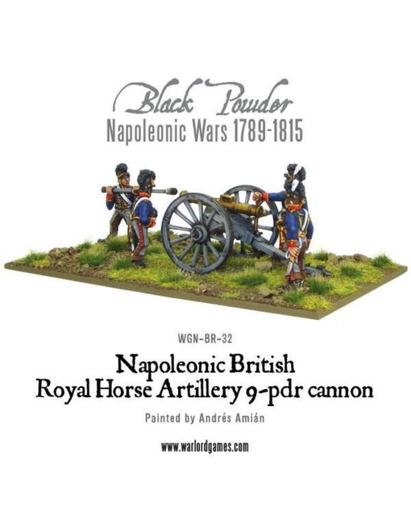 Warlord Games Napoleonic British Royal Horse Artillery 9-pdr Cannon