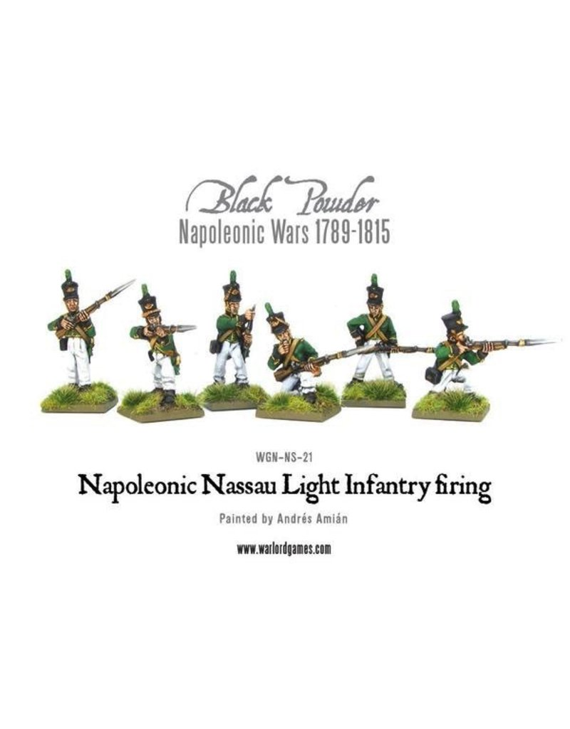 Warlord Games Napoleonic Nassau Light Infantry Firing