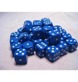 Chessex CHX25806 12mm d6 Opaque Blue with White