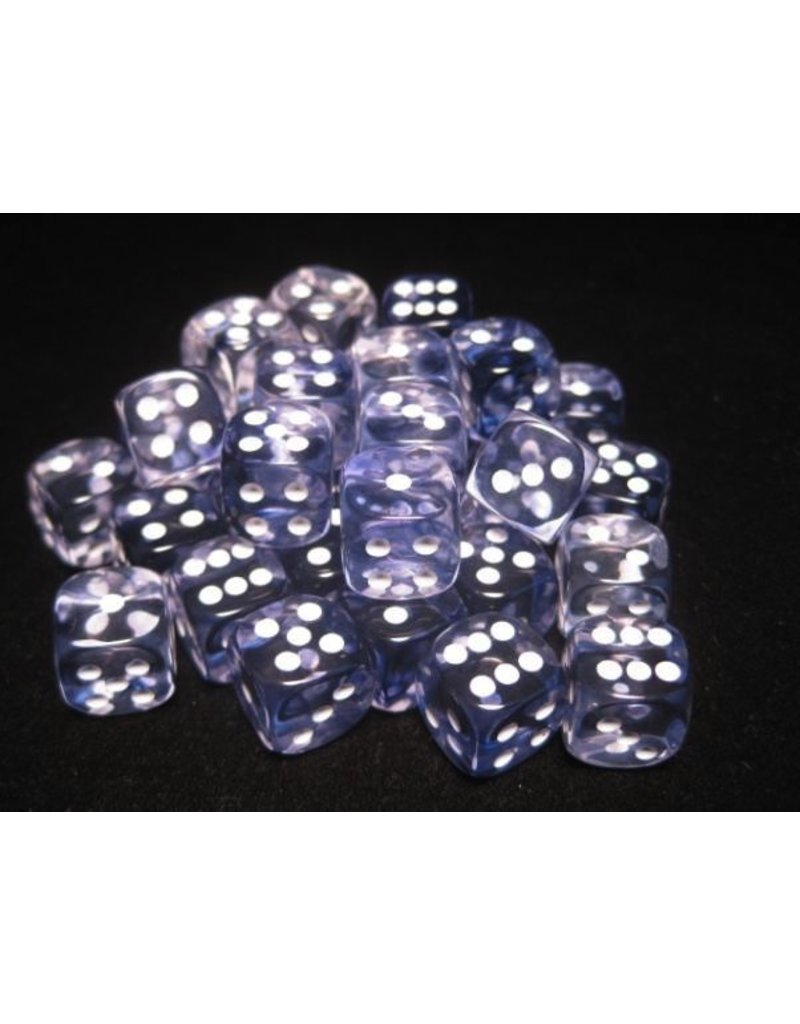 Chessex CHX27808 12mm d6 Nebula Black with White