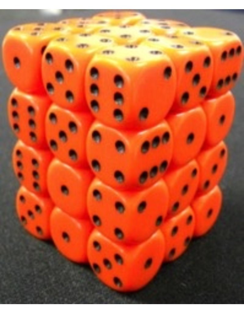Chessex CHX25803 12mm d6 Opaque Orange with Black