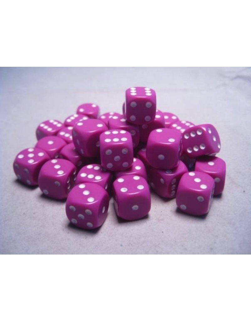 Chessex CHX25827 12mm d6 Opaque Light Purple with White