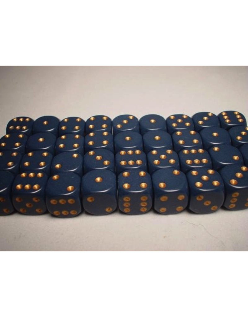 Chessex CHX25826 12mm d6 Opaque Dusty Blue with Copper