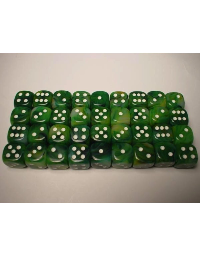 Chessex CHX27885 12mm d6 Phantom Green with White