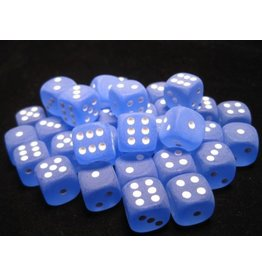 Chessex CHX27806 12mm d6 Frosted Blue with White
