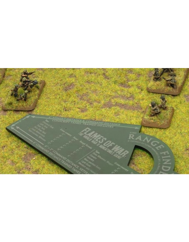 Flames of War AT002I FOW Range Finder Green